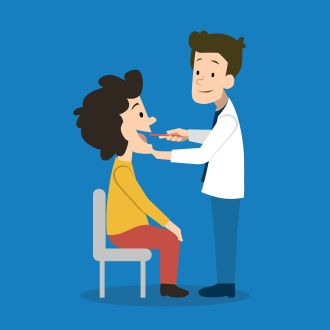 An Internist / Doctor is evaluating a patient.